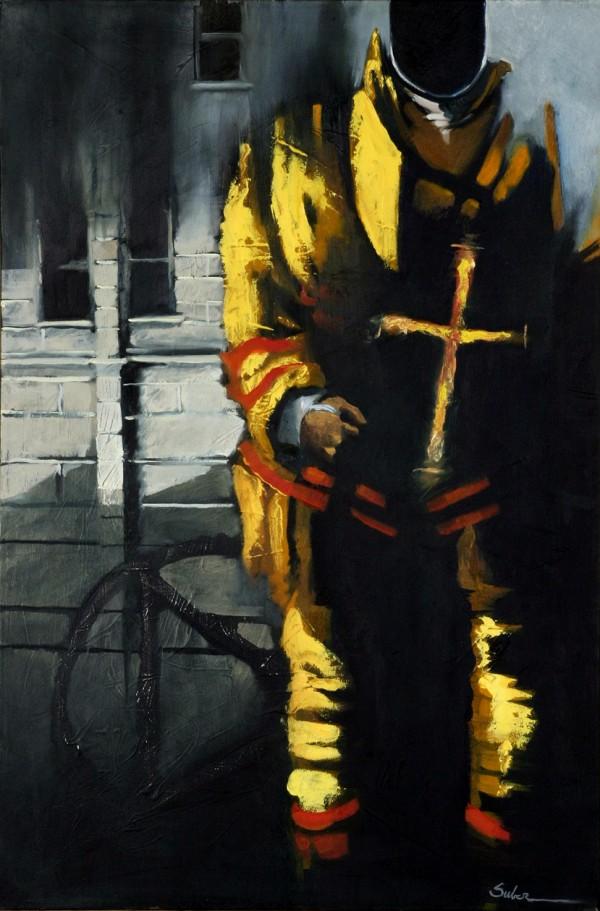 Студия иллюстрации MjSuber Studio. Пожарный в образе современного рыцаря, 2009 год, США