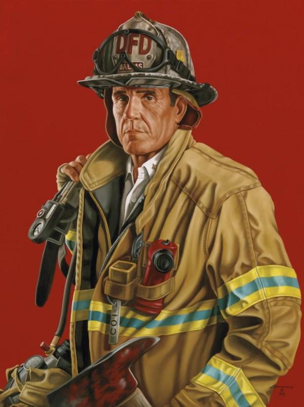 Ричард Тиммонс. Портрет шефа пожарного батальона Говарда Рассела (США)