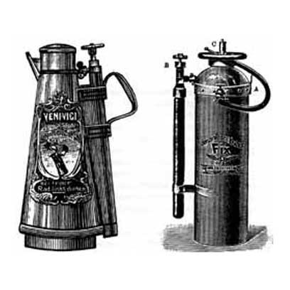 Огнетушители VeniVici с наружным расположением колбы со сжатым газом
