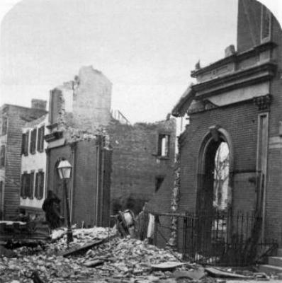 Развалины тетра Брулина после пожара