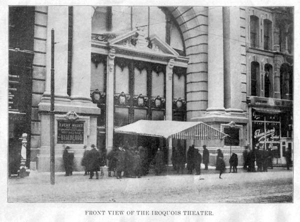 """Театр """"Ирокез"""" в Чикаго перед пожаром, США, 1903 год"""