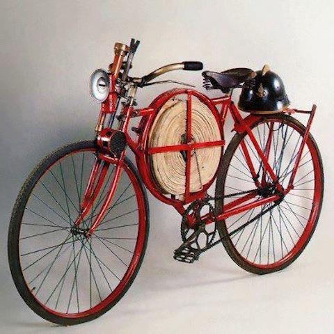 Год 1905 велосипед пожарных Англии