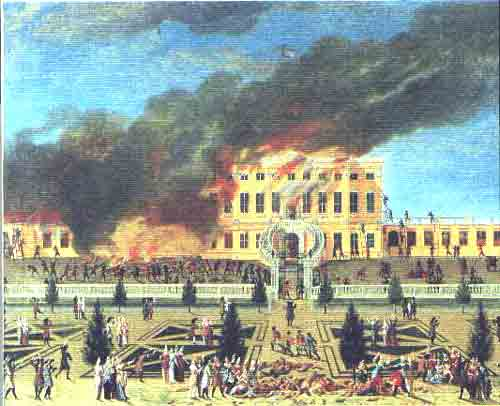 Пожар в замке Амалиенборг, Копенгаген