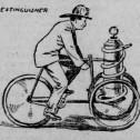 Добровольные пожарные части на велосипедах. США, 1896 год
