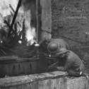 Канадский Женский Армейский корпус на тушении пожаров, 1943 год