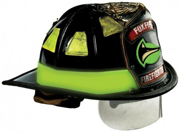 Флюоресцентная резиновая лента для шлема, стоимость около 20$