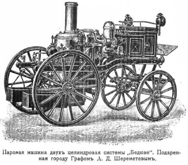 Паровая машина, подаренная графом Шереметьевым