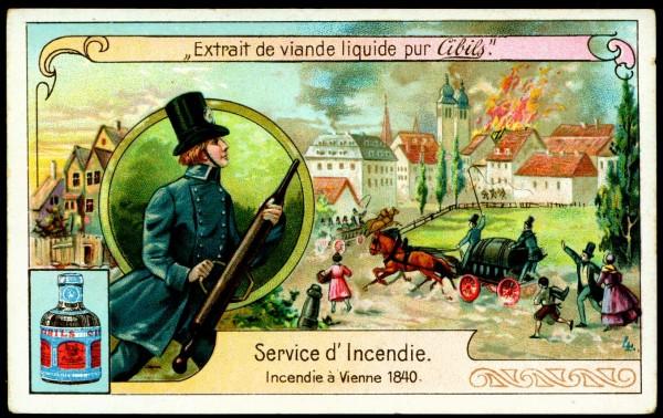 Пожарная служба. Пожар в Вене в 1840 году