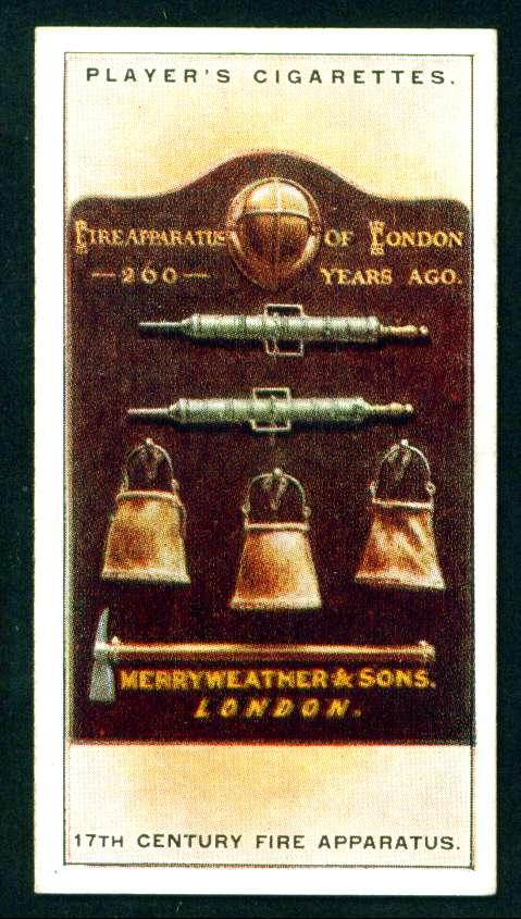 Противопожарное оборудование в Лондоне 17 века