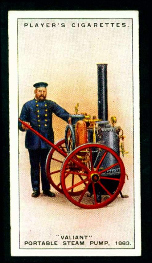 Портативный паровой пожарный насос VALIANT, 1883 год