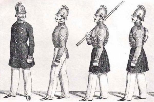 Шевроны на форме пожарных 1852 года