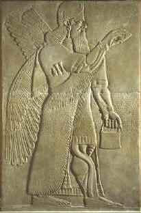 Ведро на барельефах древней Ассирии и Шумера