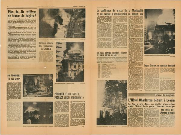 Спецвыпуск журнала Монтре от 05.12.1971, посвященный пожару