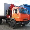 Автомобиль бортовой КамАЗ-43253-1014-96 с крано-манипуляторной установкой AMCO-VEBA 812.2S