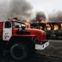 Совместные учения пожарных г. Тюмени на станции Войновка 06.10.2016г.
