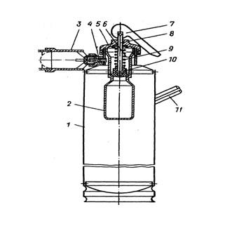 Огнетушитель комбинированный химический воздушно-пенный