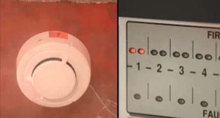 Срабатывание пожарной сигнализации на дым