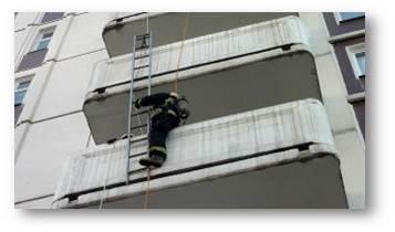 подъем через балкон