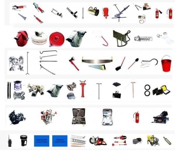 Пожарный инструмент и оборудование пожарных
