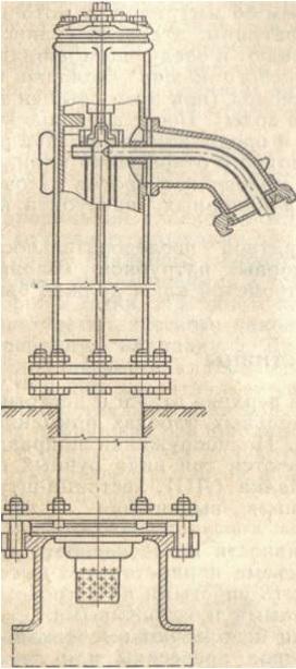 Строение гидрант колонки