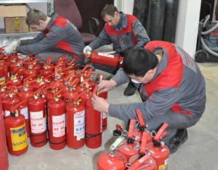Техобслуживание огнетушителей
