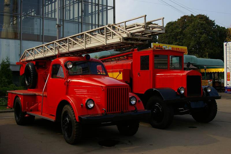 Пожарная автолестница АЛГ-17(51)ЛЧ, шасси ГАЗ-51. Государственный военно-исторический музей, Московская область