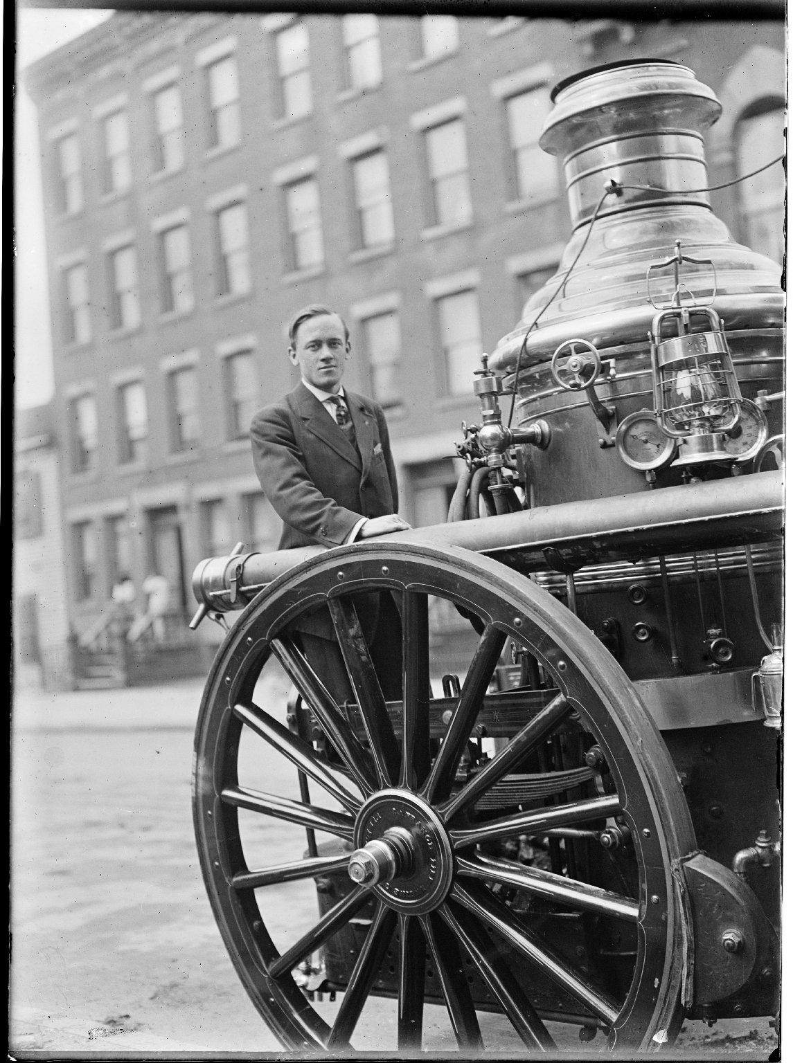 Паровой пожарный насос. Нью-Йорк, США. Начало 20 века