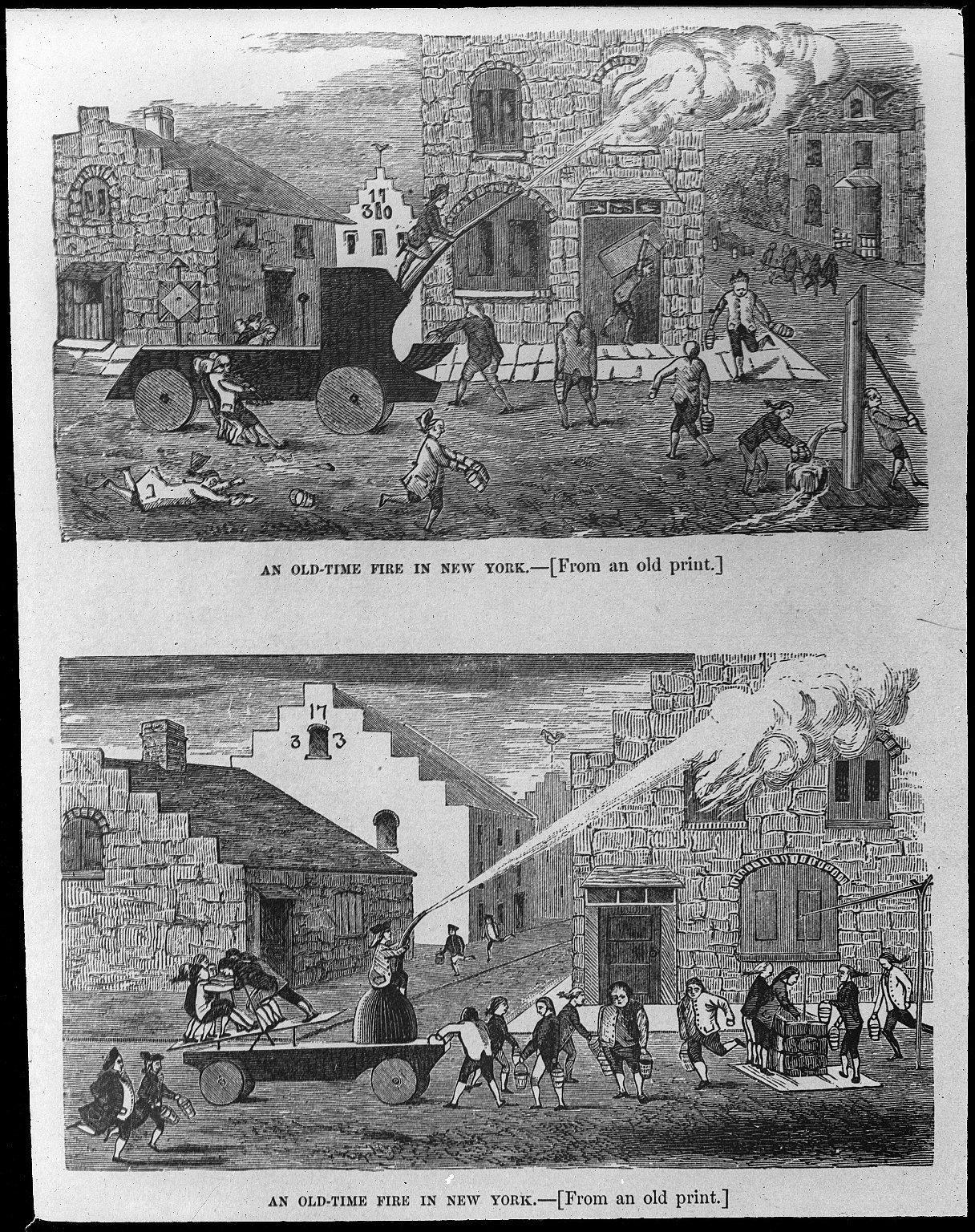 Пожары в Нью-Йорке в старые времена