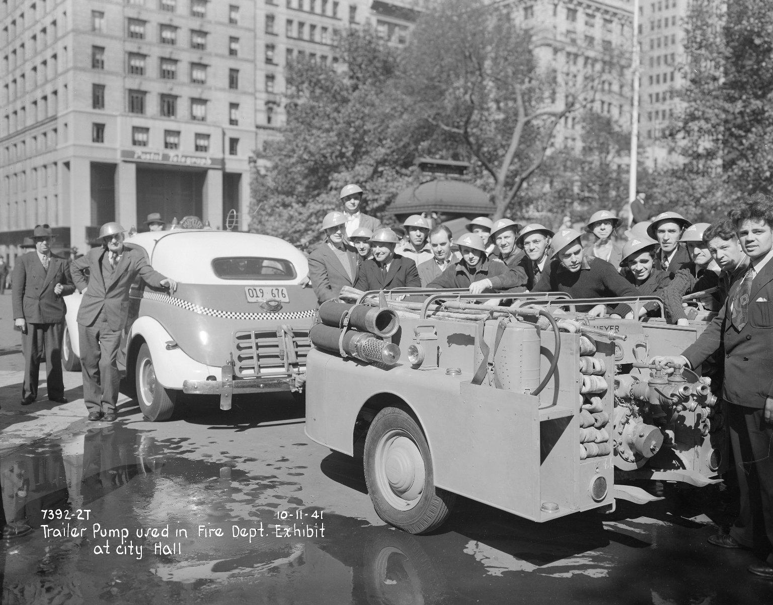 Насос-прицеп, Нью-Йорк, США. 1941 год