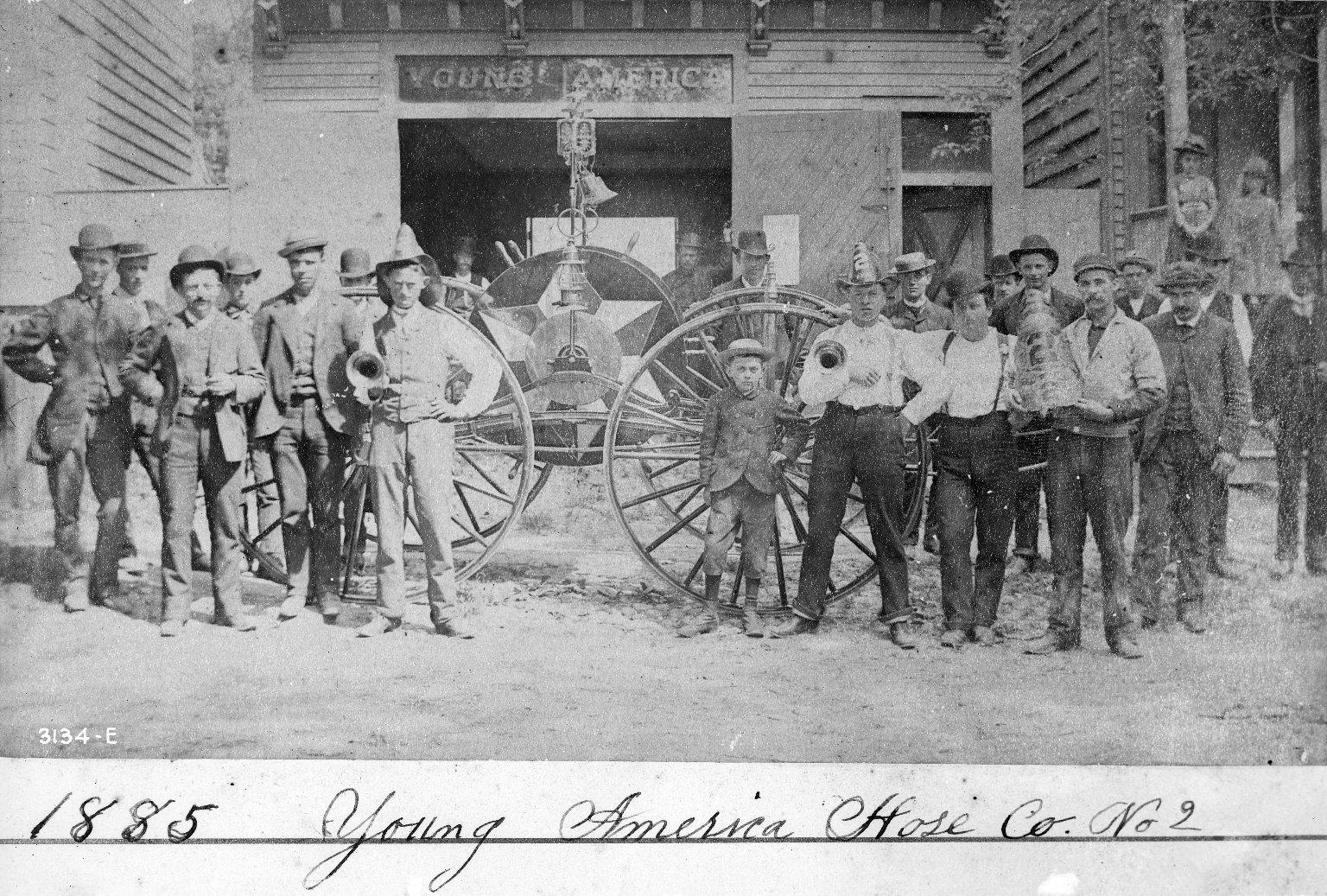 Пожарная команда. Нью-Йорк, США. 1885 год