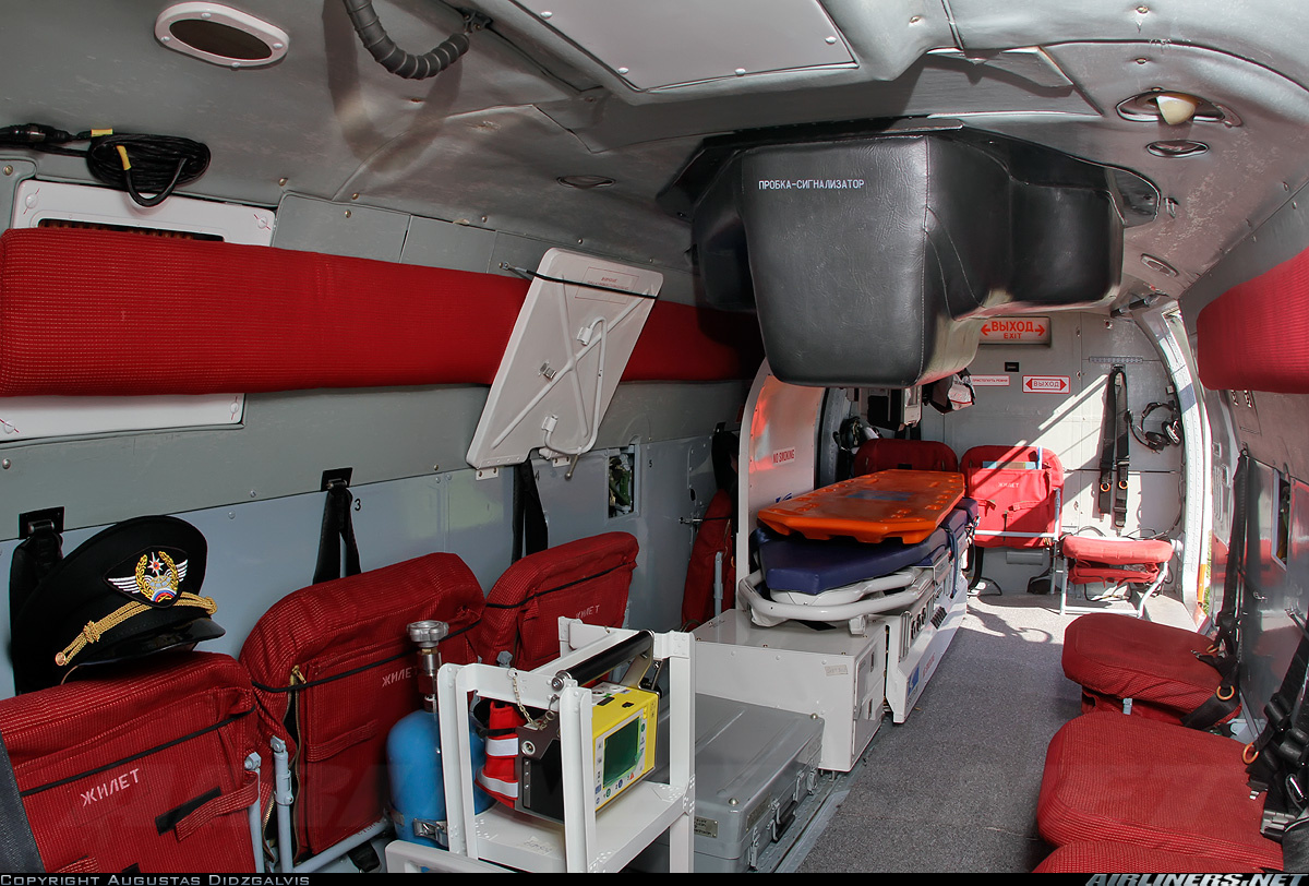 Пожарно-спасательный вертолет Ка-32А11ВС. Салон
