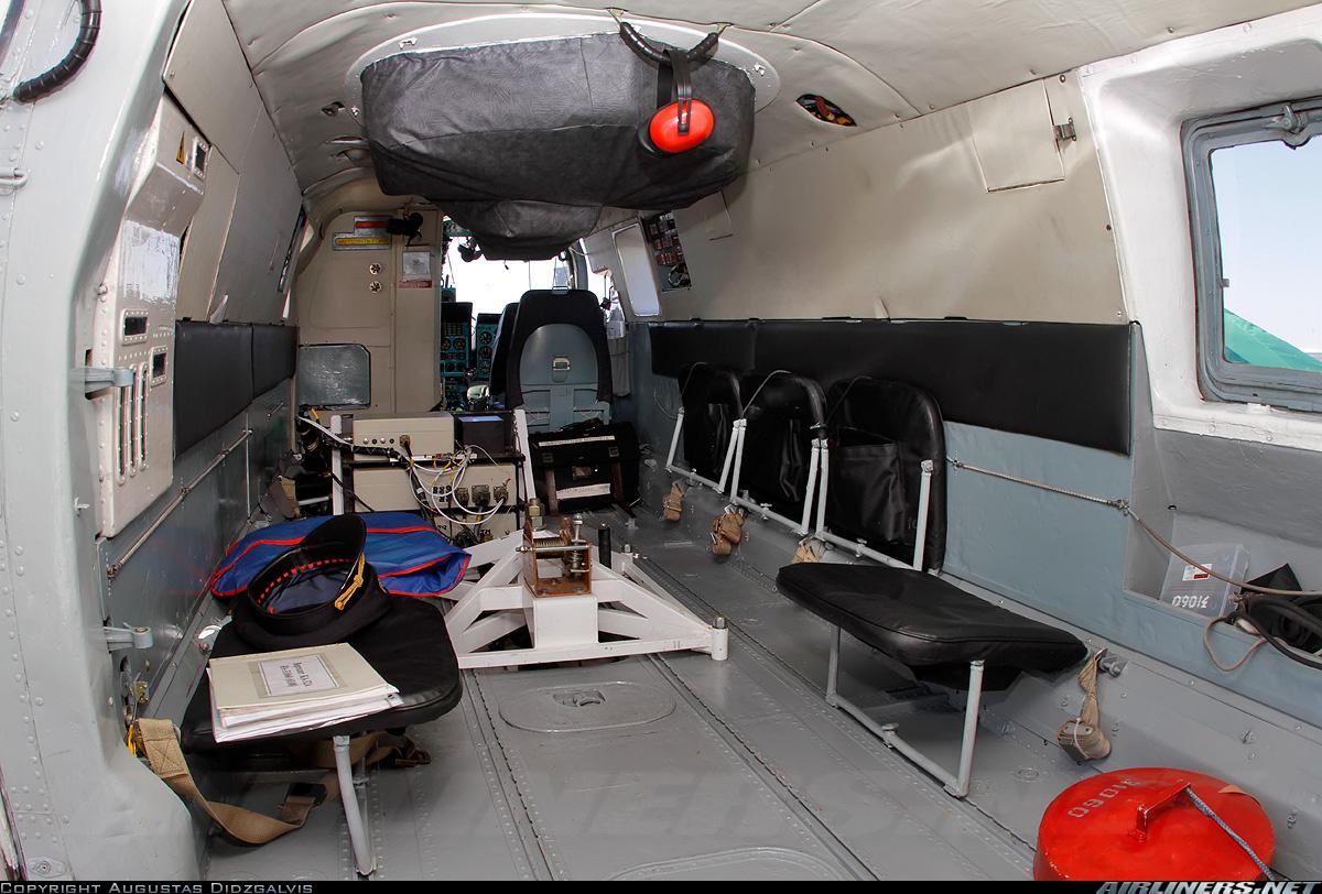 Пожарно-спасательный вертолет Ка-32А. Салон