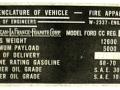 Технические данные военного аэродромного пожарного автомобиля American LaFrance Class 135