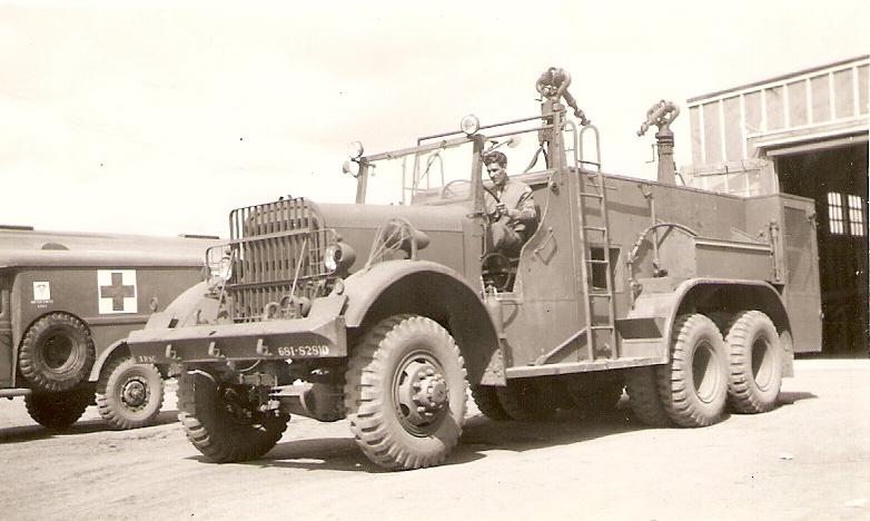 Военный аэродромный пожарный автомобиль Class 155 Kenworth-Mack 6x6, 1944 год
