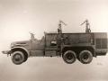 Военный аэродромный пожарный автомобиль Class 155, Brockway-American LaFrance. США, 1940-е годы