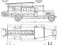 Чертеж пожарного автонасоса-линейки ПМЗ-1 на шасси ЗИС-11. Начало выпуска - 1934 год