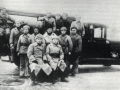 Пожарная команда по охране завода Красный Октябрь с автонасосом ПМЗ-1. Сталинград, 1924 год