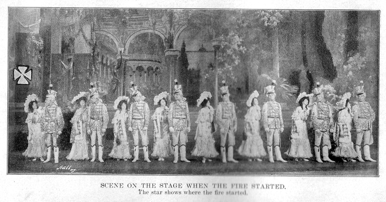 Пожар в театре Ирокез. Чикаго, США, 1903 год
