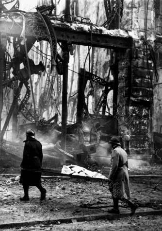 Пожар в универмаге Nouvelles Galeries. Марсель, Франция, 1938 год