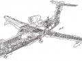 Компоновочная схема самолета БЕ-200 в спасательном варианте