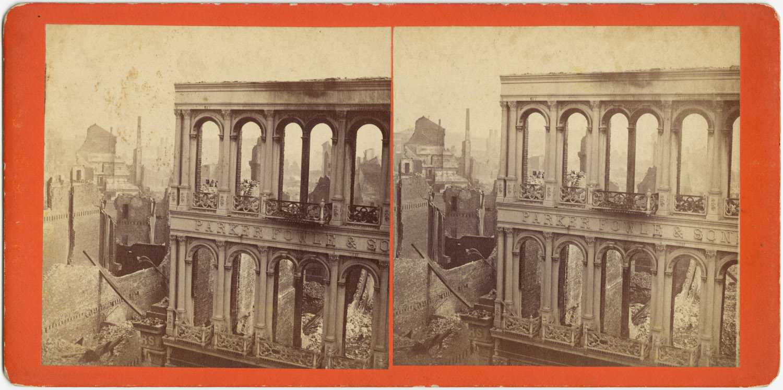 Великий пожар Бостона. 1872 год, США. Руины после пожара