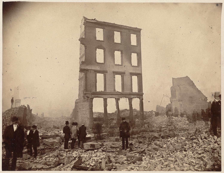 Великий пожар Бостона. 1872 год, США. Перл и Милк Стрит