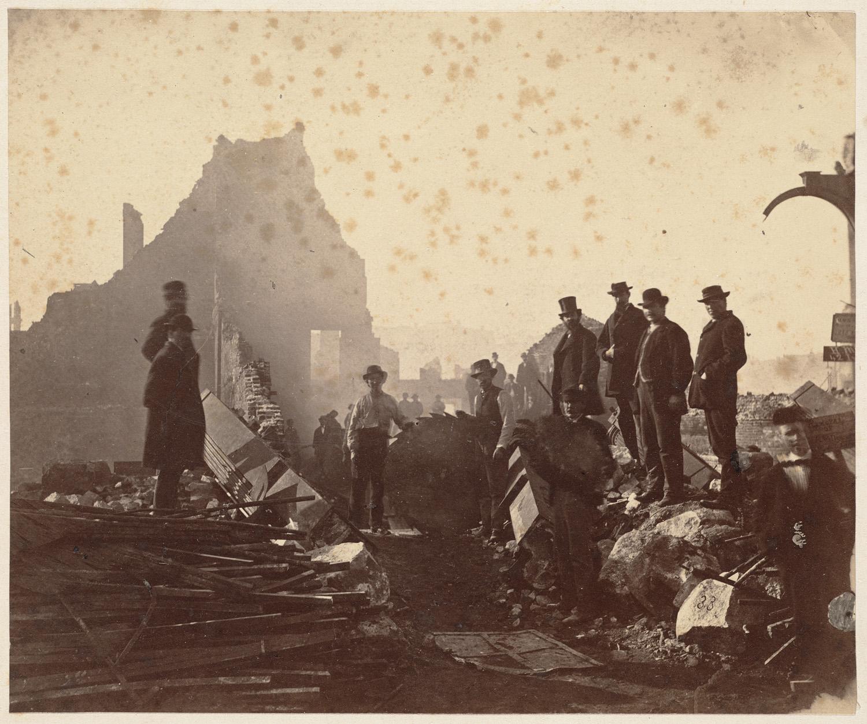 Великий пожар Бостона. 1872 год, США. Федерал Стрит