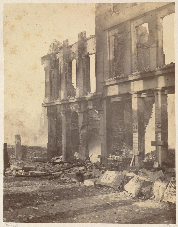 Великий пожар Бостона. 1872 год, США. Перл Стрит