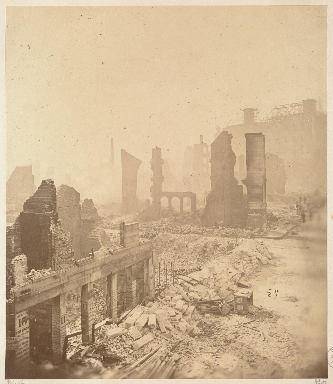 Великий пожар Бостона. 1872 год, США. Уотер Стрит