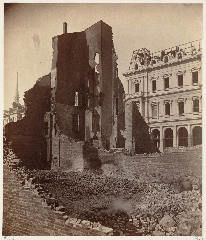 Великий пожар Бостона. 1872 год, США. Милк Стрит