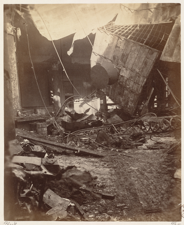 Великий пожар Бостона. 1872 год, США. Внутри здания банка
