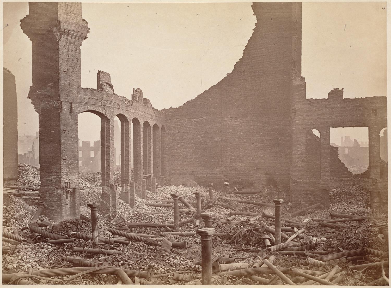 Великий пожар Бостона. 1872 год, США. Магазин на Уинтроп Сквер