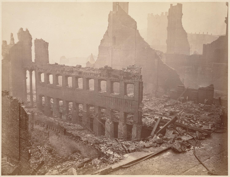 Великий пожар Бостона. 1872 год, США. Франклин Стрит