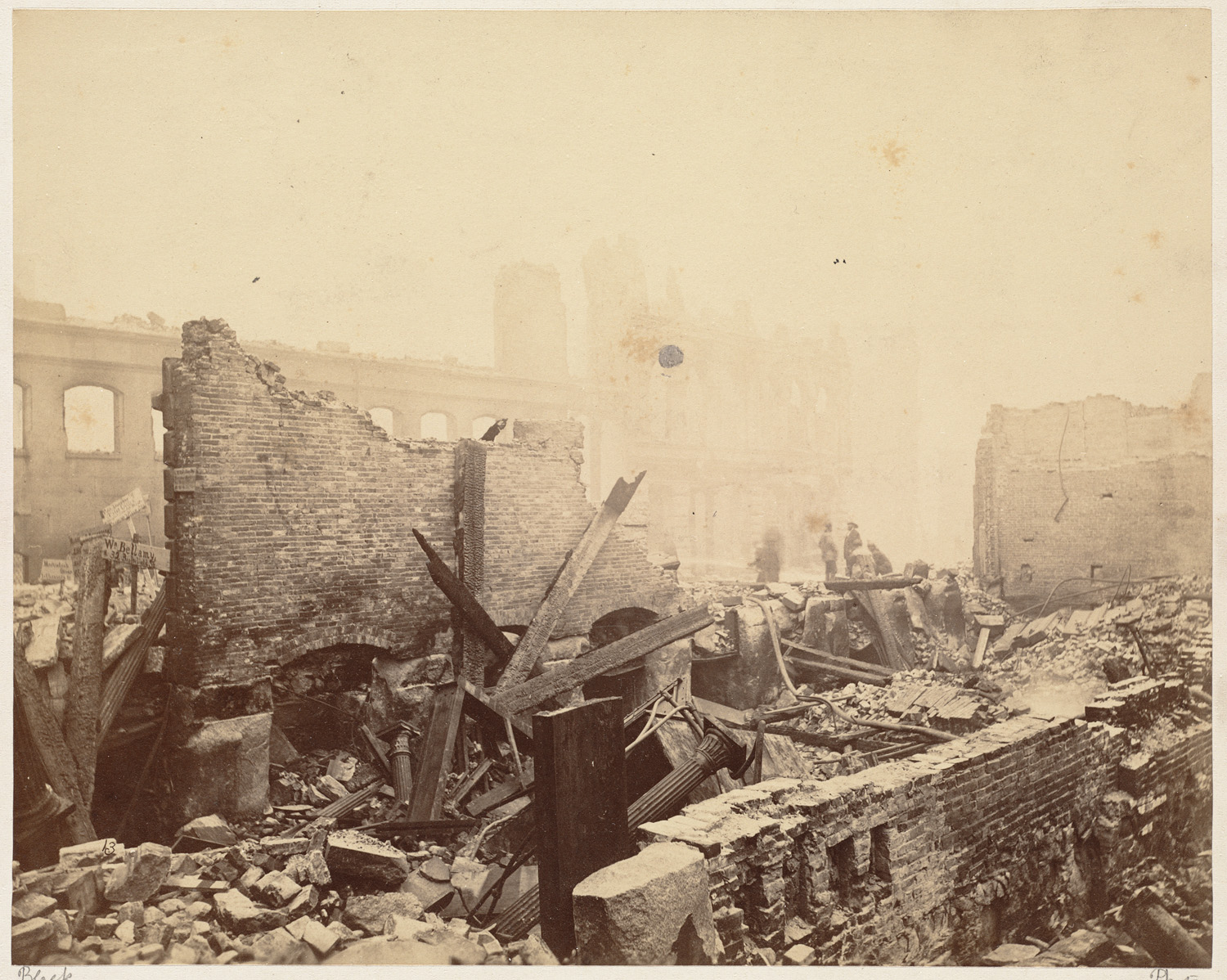 Великий пожар Бостона. 1872 год, США. Вашингтон Стрит